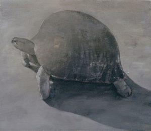 Javier Artica, The Tortoise's Shell. 2017, oil on plywood, 59 x 69 cm