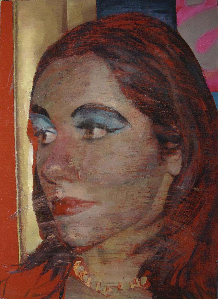 Javier Artica, Make Up. 2016, oil on canvas, 92 x 66 cm