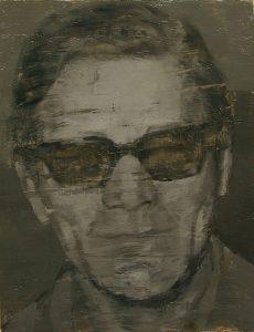 Javier Artica, Sólo cuando respiro. 2016, óleo sobre tabla, 26 x 19 cm