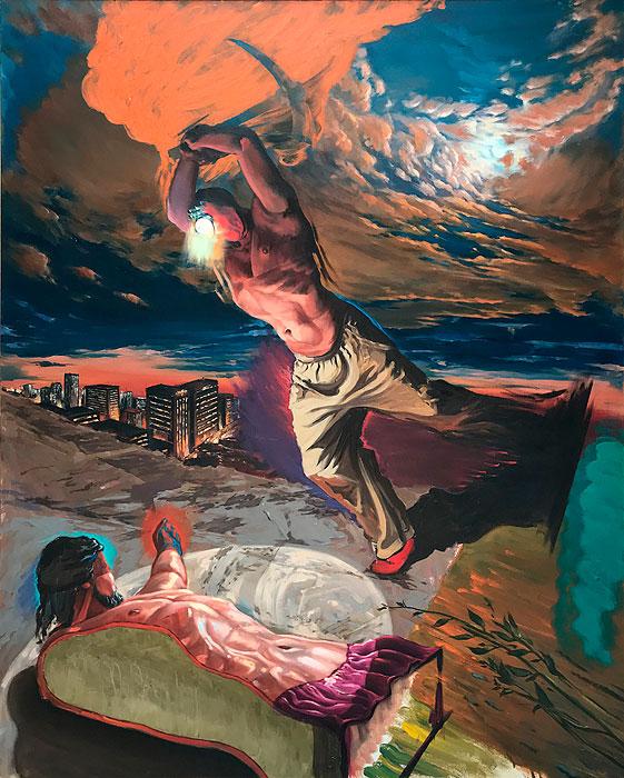 Juana González, Escultor. 2014, huile sur toile 200 x 155 cm