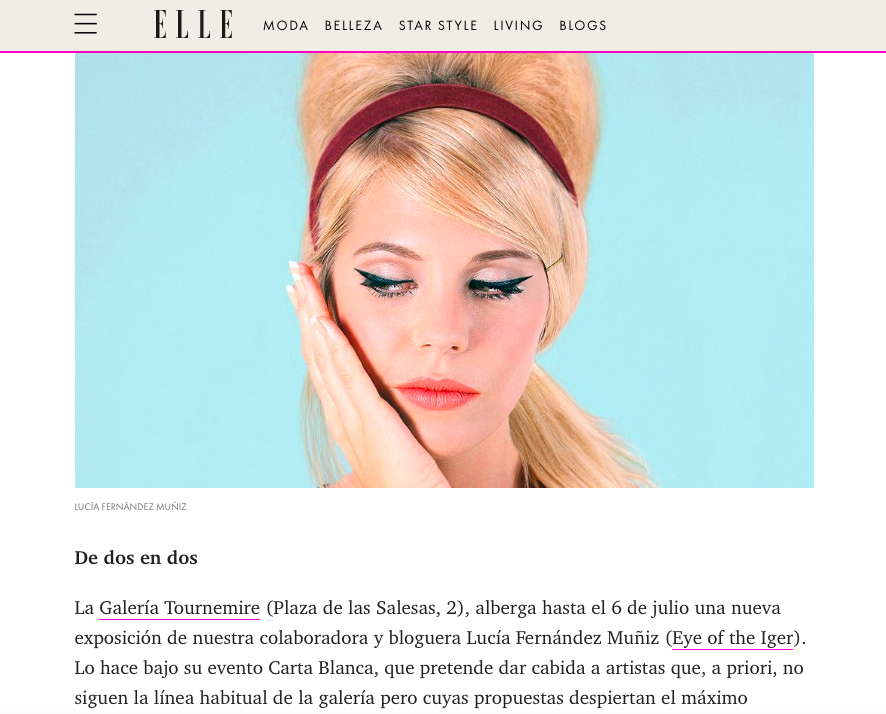 """ Ten leisure ideas among which you will know which one to choose"" by Begoña Alonso and José Manuel Rodríguez, ELLE Spain, 05/06/19"