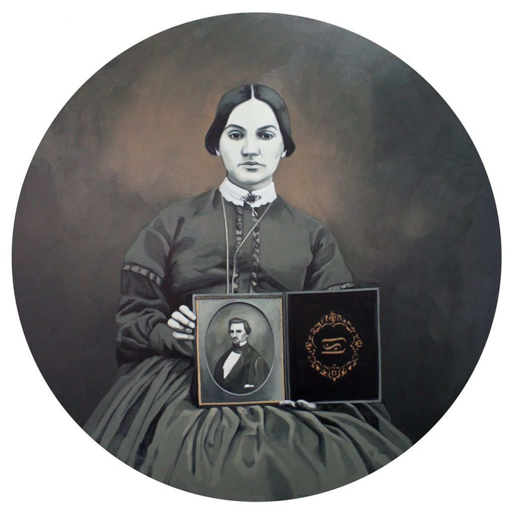 Cristina Toledo, Widow. 2018, oil on canvas, 100 x 100 cm.