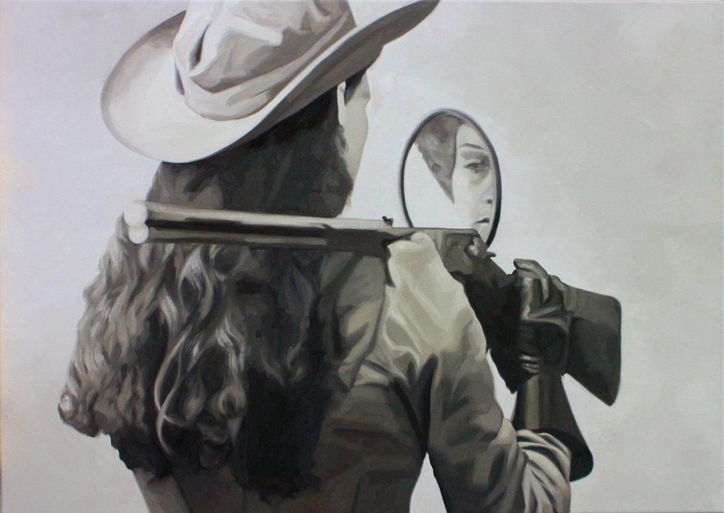 Cristina Toledo, Annie Oakley. 2018, oil on canvas, 65 x 92 cm.