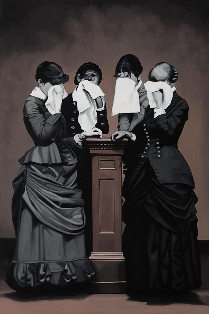 Cristina Toledo, Grief. 2018, oil on canvas, 195 x 130 cm.