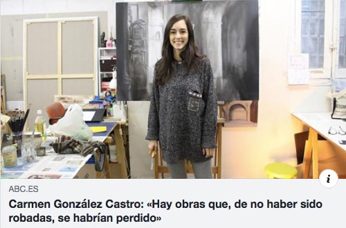 "Quote from the Tournemire Gallery in ""Carmen González Castro:« There are works that, had they not been stolen, would have been lost"" by Marta Dorado, ABC Cultural, 04/02/19"