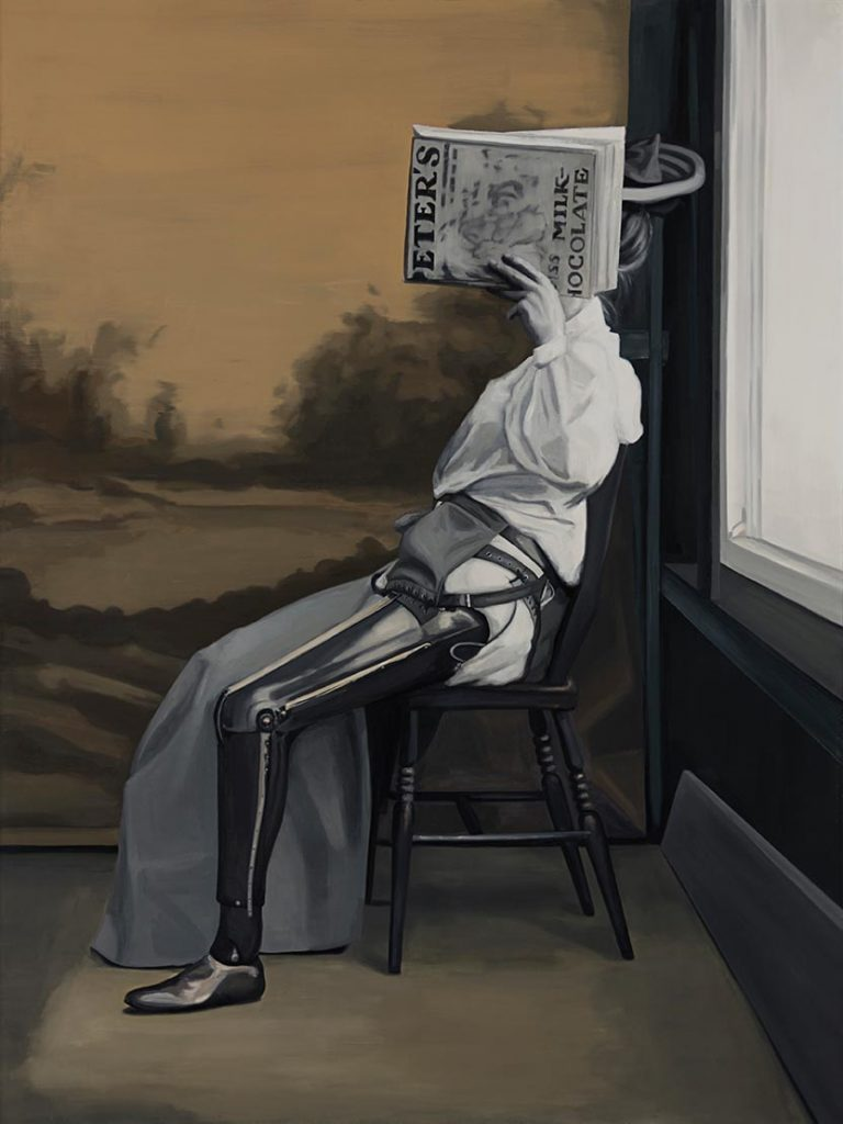 Cristina Toledo, Mr. Gillingham's Artificial Limbs, 2018, oil on canvas, 195 x 114cm.