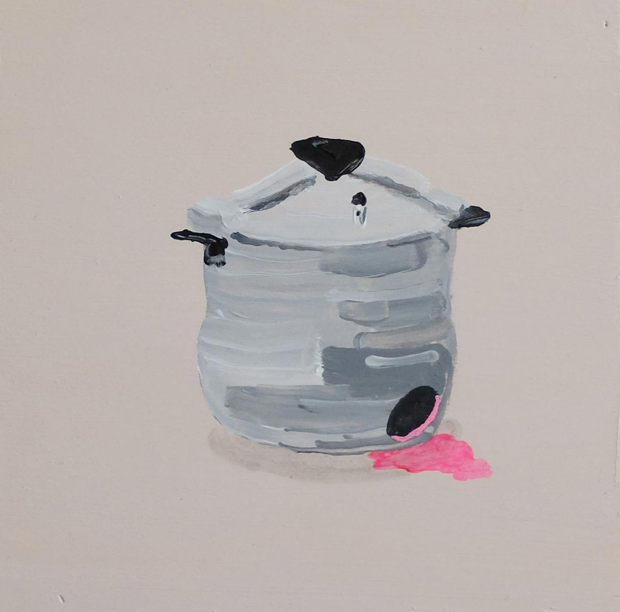 Dead olla exprés, 2016, acrylic on plywood, 20 x 20 cm
