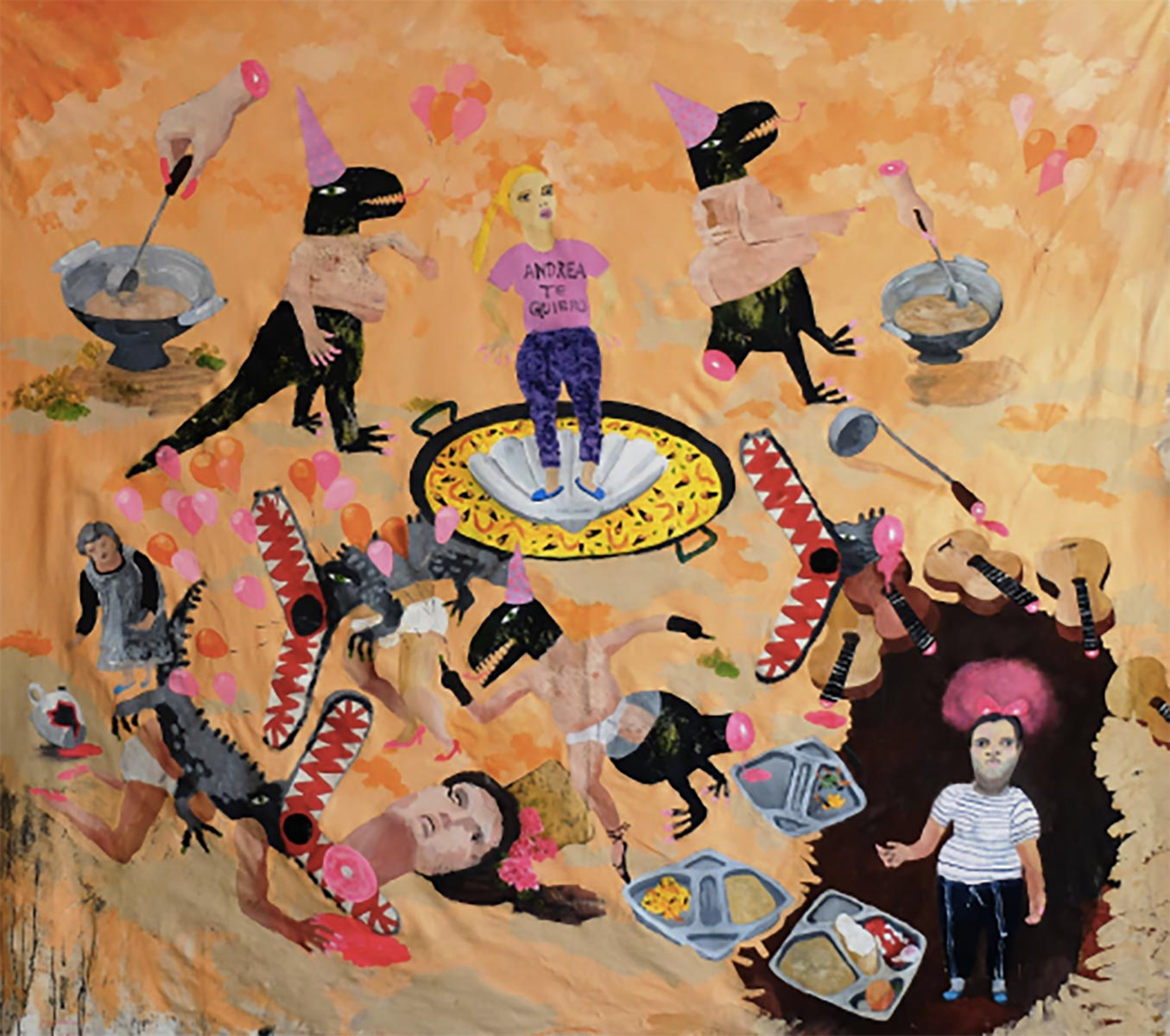 Delicious tonadillera and la princesa del pueblo, 150x180 cm, acrylic on plywood, 2015