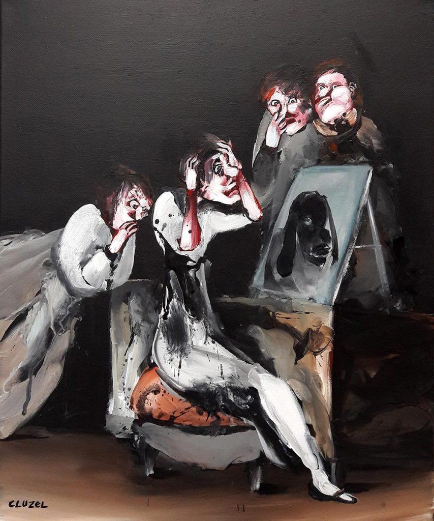Caprice. 2018, acrylique sur toile, 46 x 38 cm