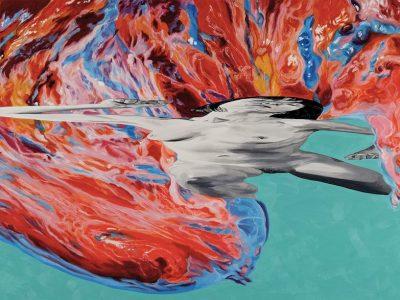 Carmen González Castro Laocoonte. Serie Introspectiva. 2017, huile sur toile, 73x146 cm.