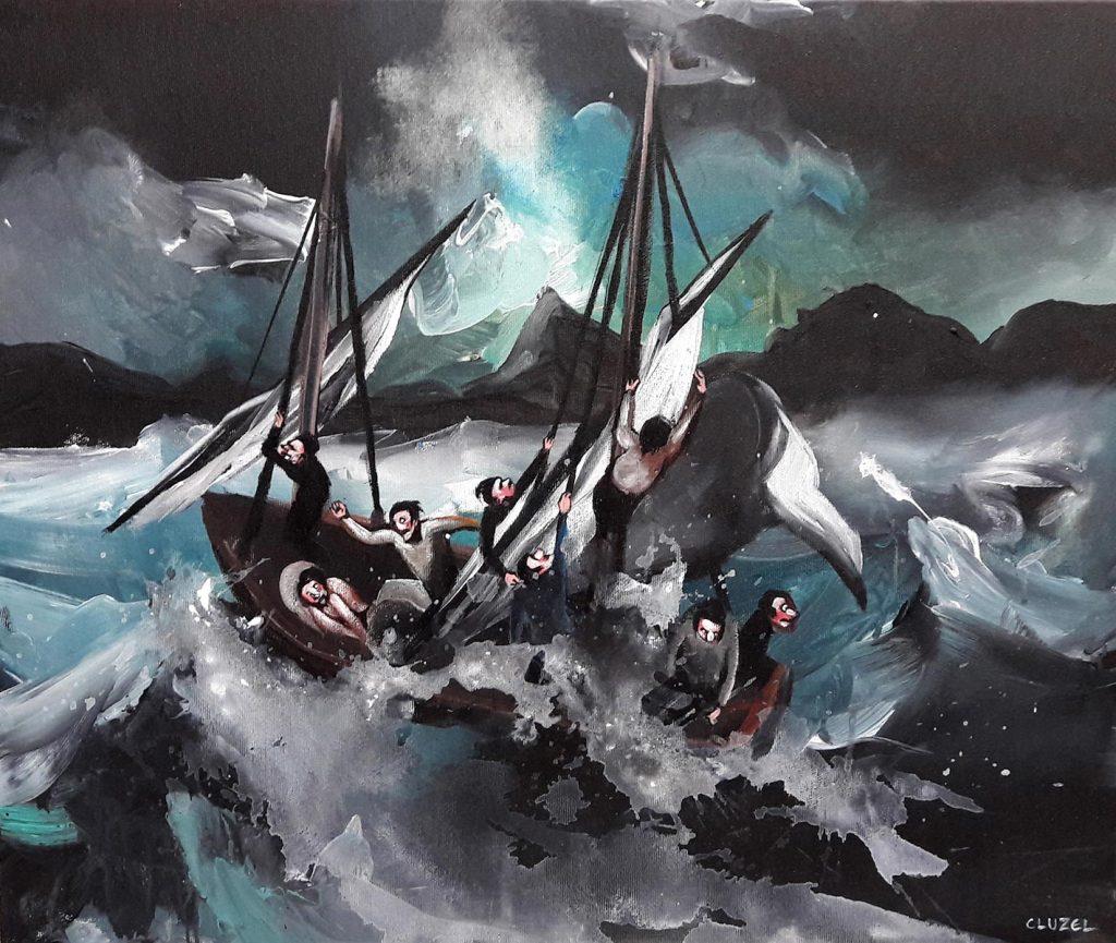 Éclaircie. 2018, acrylique sur toile, 45 x 55 cm