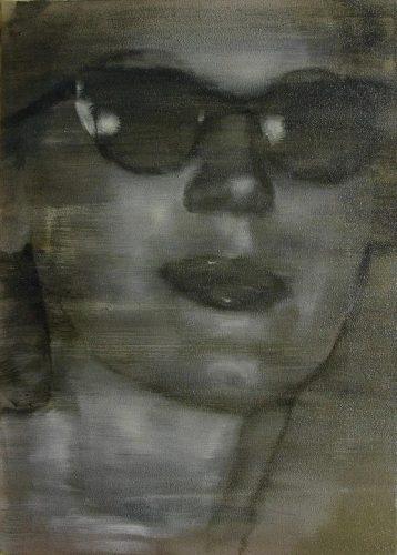 Gafas de sol para los flashes. 2016, óleo sobre tabla, 46 x 33 cm