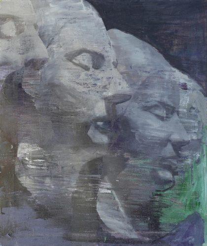 Máscaras. 2017, óleo sobre lienzo, 69x59 cm