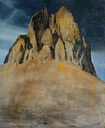 Montaña de día. 2017, óleo sobre lienzo, 100 x 80cm