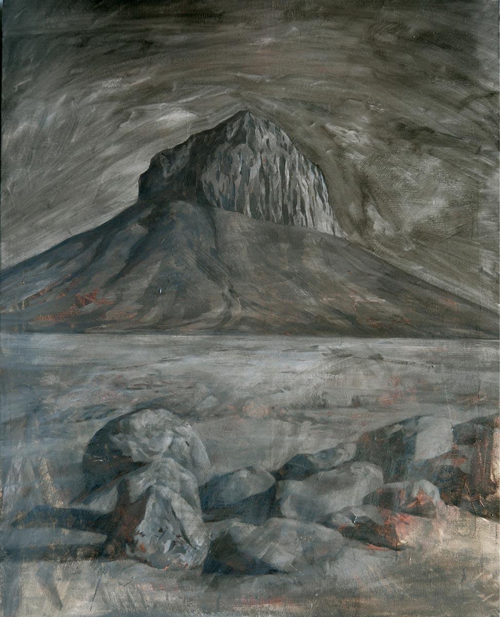Montaña de noche. 2017, óleo sobre lienzo, 100 x 80 cm