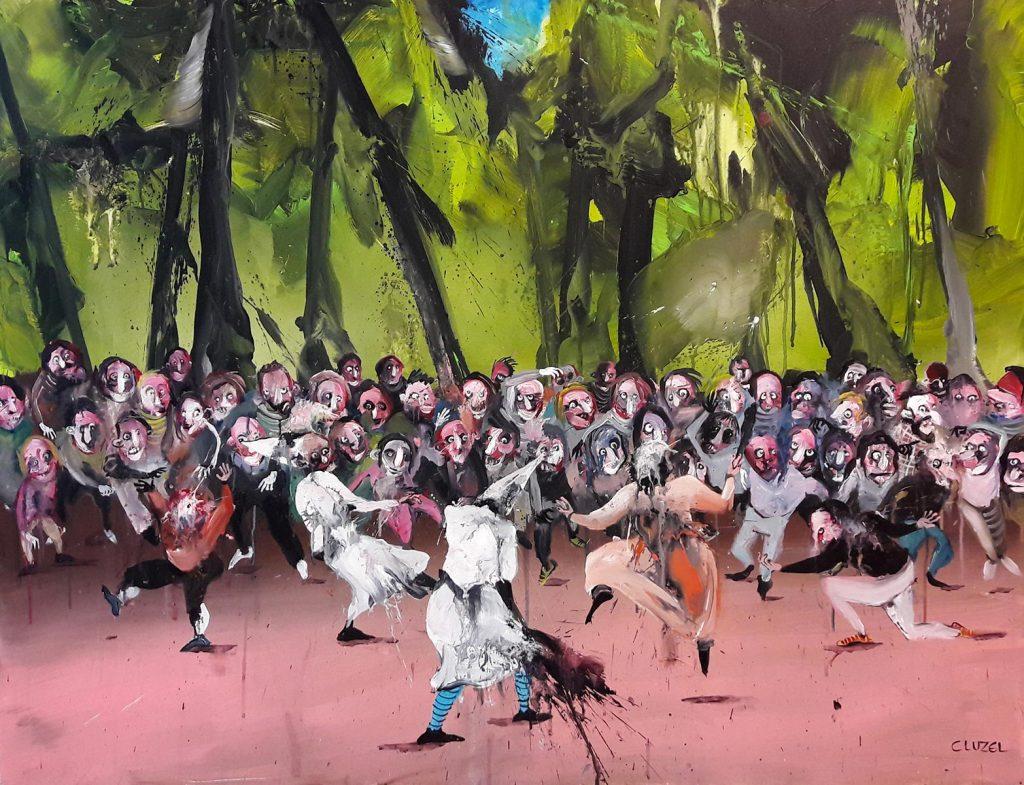 Mascarade. 2017, acrylic on canvas, 89x116 cm