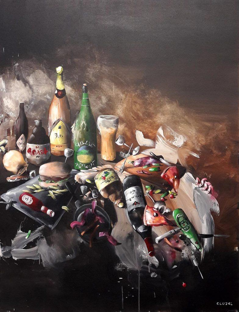 Nature morte 1. 2018, acrylique sur toile, 116 x 89 cm