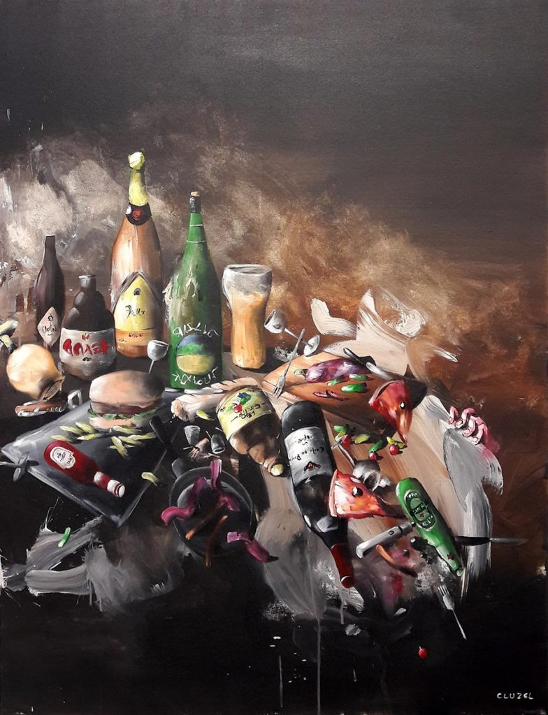 Still Life 1. 2018, acrylic on canvas, 116 x 89 cm