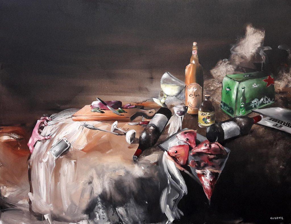 Nature morte 3. 2018, acrylique sur toile, 89 x 116 cm