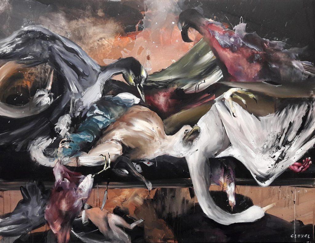 Nature morte 4. 2018, acrylique sur toile, 89 x 116 cm