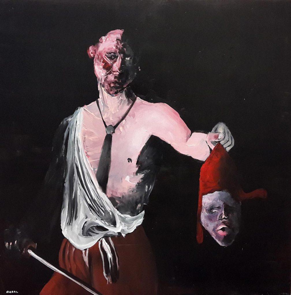 République, 2016, acrylique sur toile, 80x80 cm