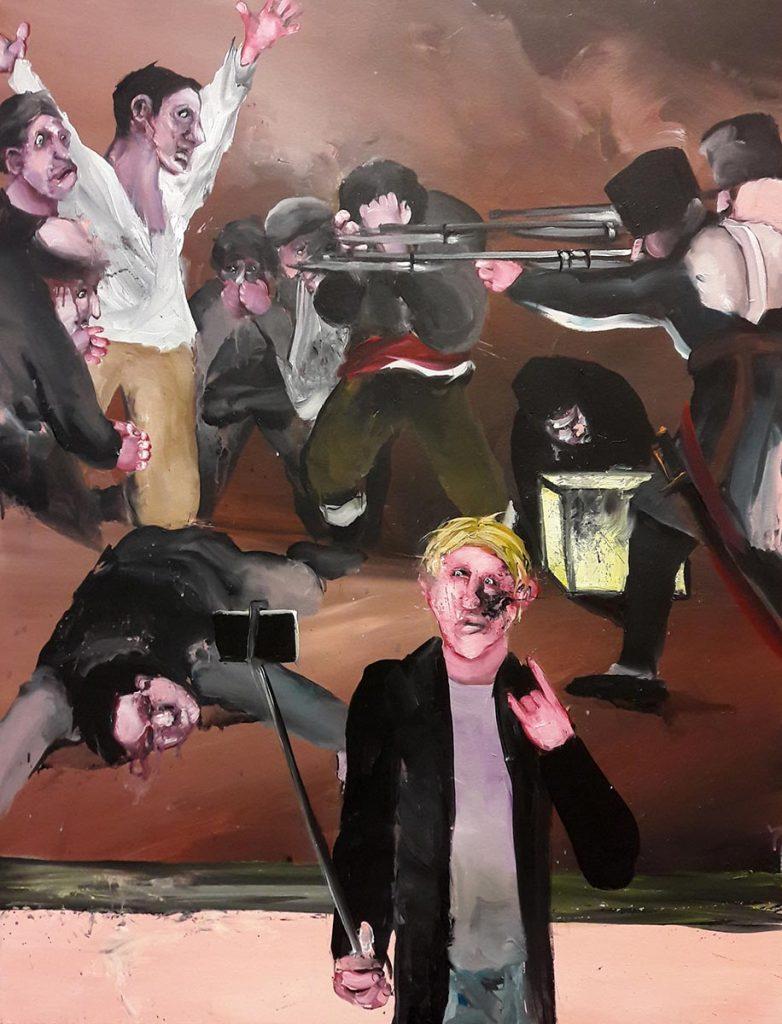 Tableau d'une exécution. 2017, acrylique sur toile, 116x89 cm