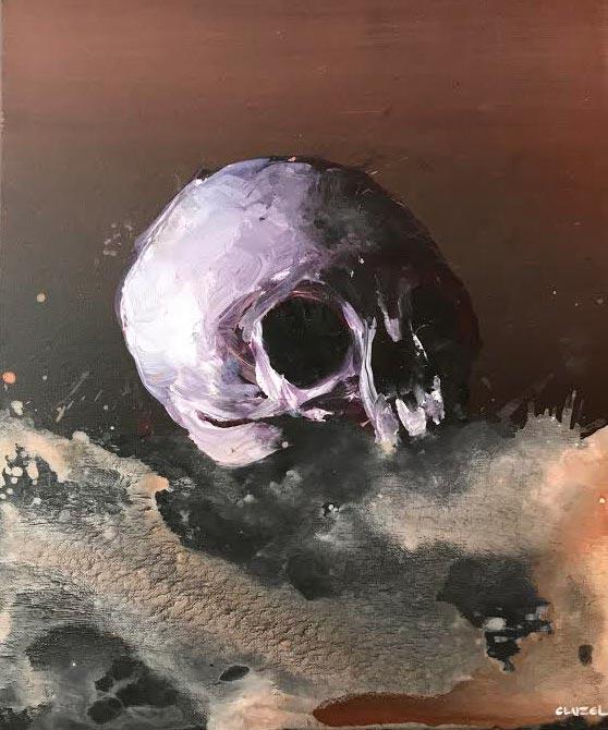 Tempus Fugit. 2018, acrylique sur toile, 46 x 38 cm