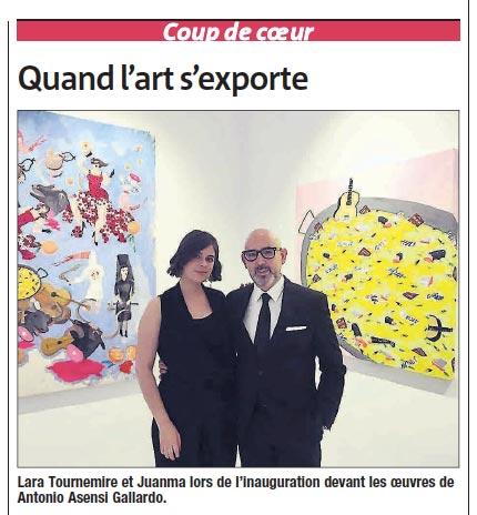 """""""Coup de cœur : Quand l'art s'exporte"""" de Anne Mouly, Le Villefranchois, La Gazette du Quercy Rouergue, 31/05/18"""